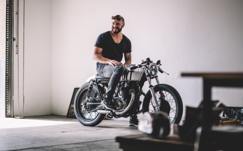 Markus Flossmann and his Honda CB250